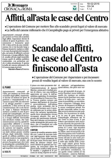 Affitti Roma all'asta le case in centro dello scandalo