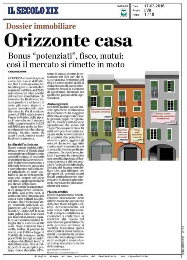 Novit immobiliari rassegna stampa - Immobiliare nicoletti ...