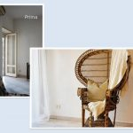 Home staging angolo sala prima e dopo