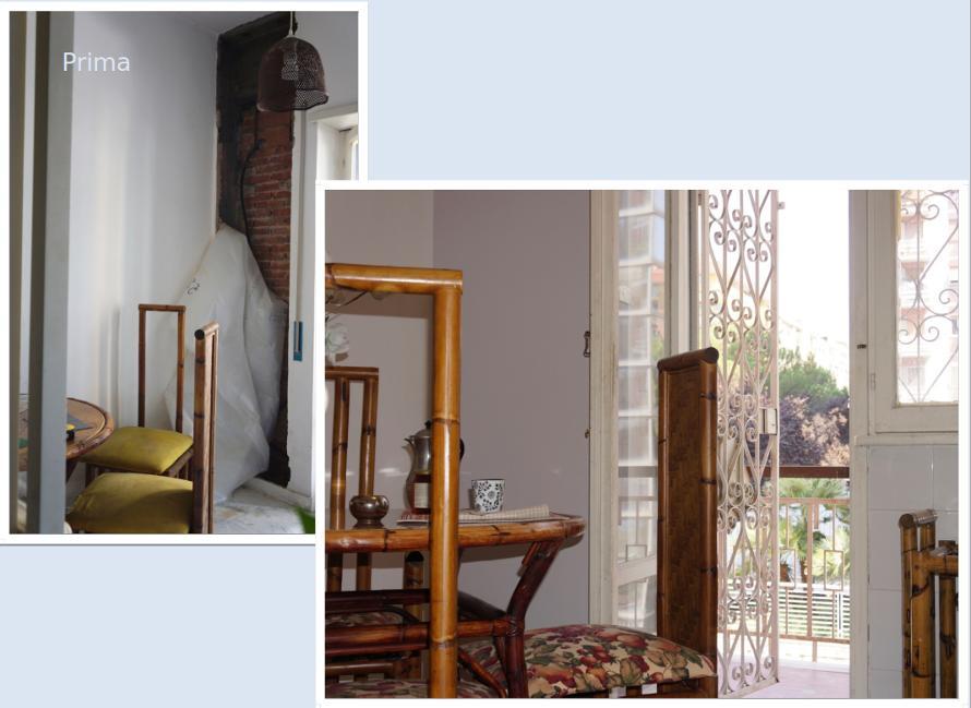 Home staging sala prima e dopo