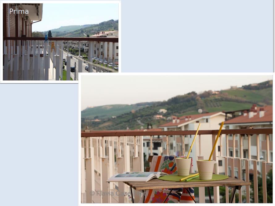 Home staging balcone prima e dopo