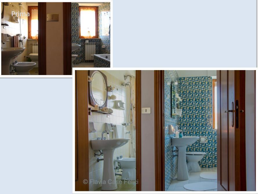 Home staging bagno prima e dopo