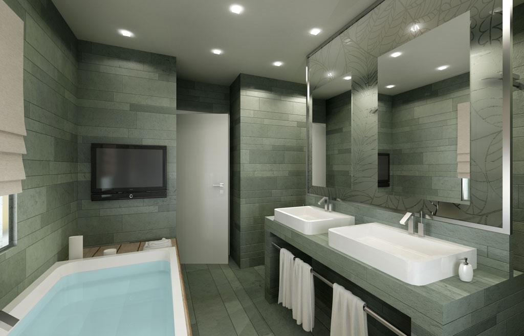 Rendering 3d immobiliare - Bagno completo ikea ...