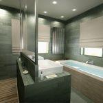 Rendering 3d bagno con vasca