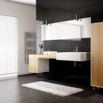 Rendering 3d bagno stile moderno