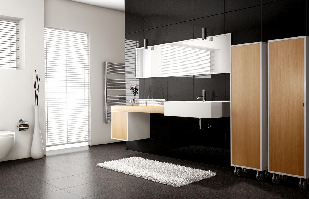 Rendering 3d immobiliare - Bagno stile moderno ...