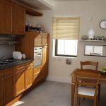 Rendering 3d cucina in legno