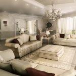 Rendering 3d salone in stile 900