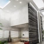 Rendering 3d living moderno
