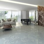 Rendering 3d salone bianco
