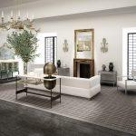 Rendering 3d salone con divano